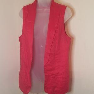 Forever 21 Red Shawl Blazer Vest